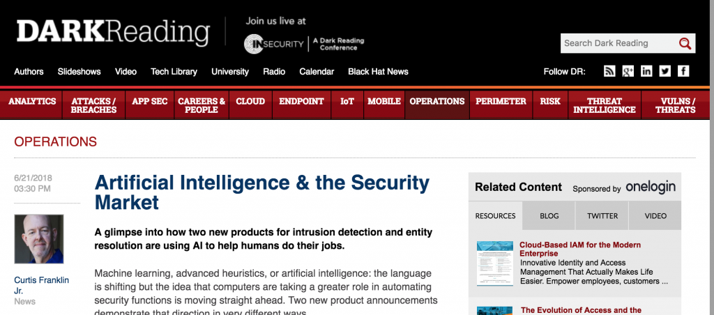 Kunstmatige intelligentie en de beveiligingsmarkt